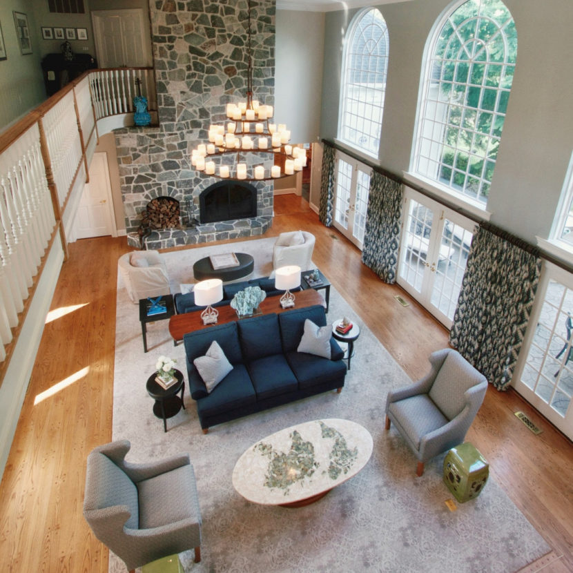 design two story living room